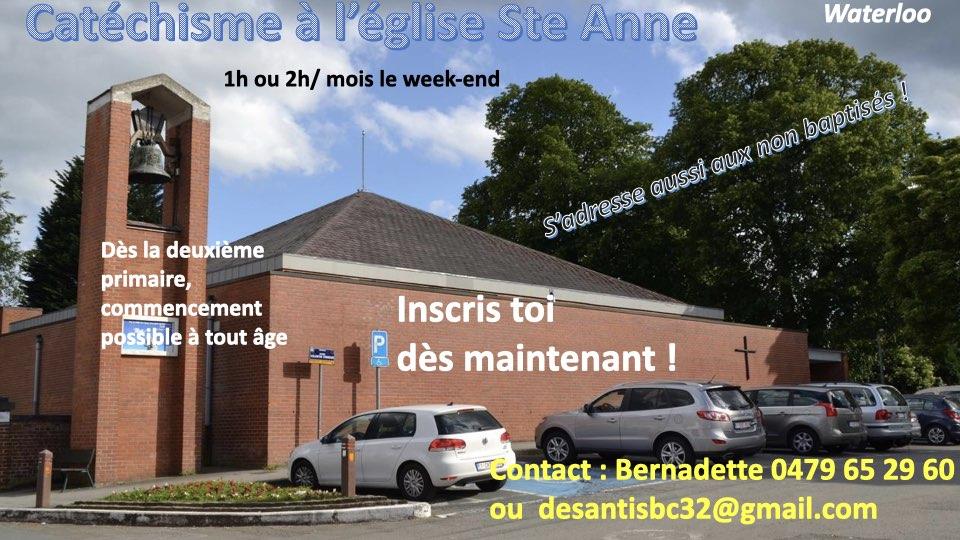 Le catéchisme à l'église Sainte Anne reprend !